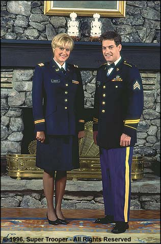 Female Officer and Male Enlisted Service Dress Blues